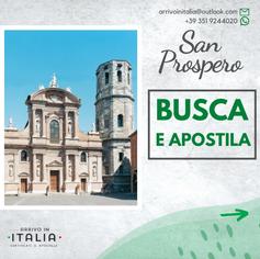 Certificato di Battesimo | San Prospero