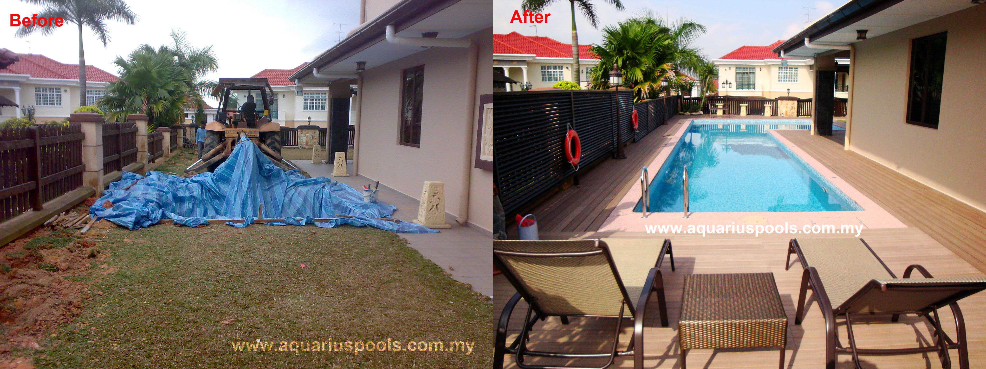 Before & After Swimming Pool Picture
