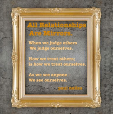 All relationships are mirrors.