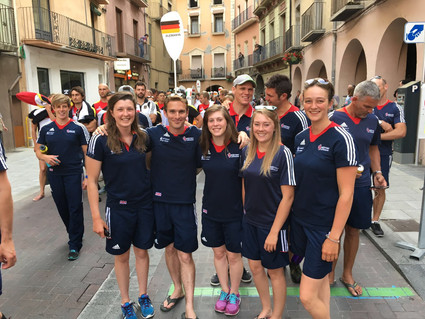 The crew at an opening ceremony in La Seu 😊😊