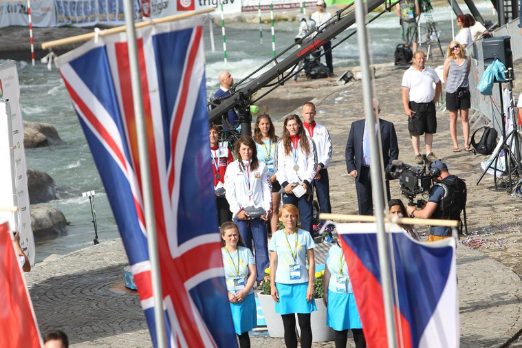 Watchng the flag being raised for our 2017 European Championship team title