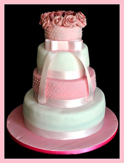 Gâteau élégance rose