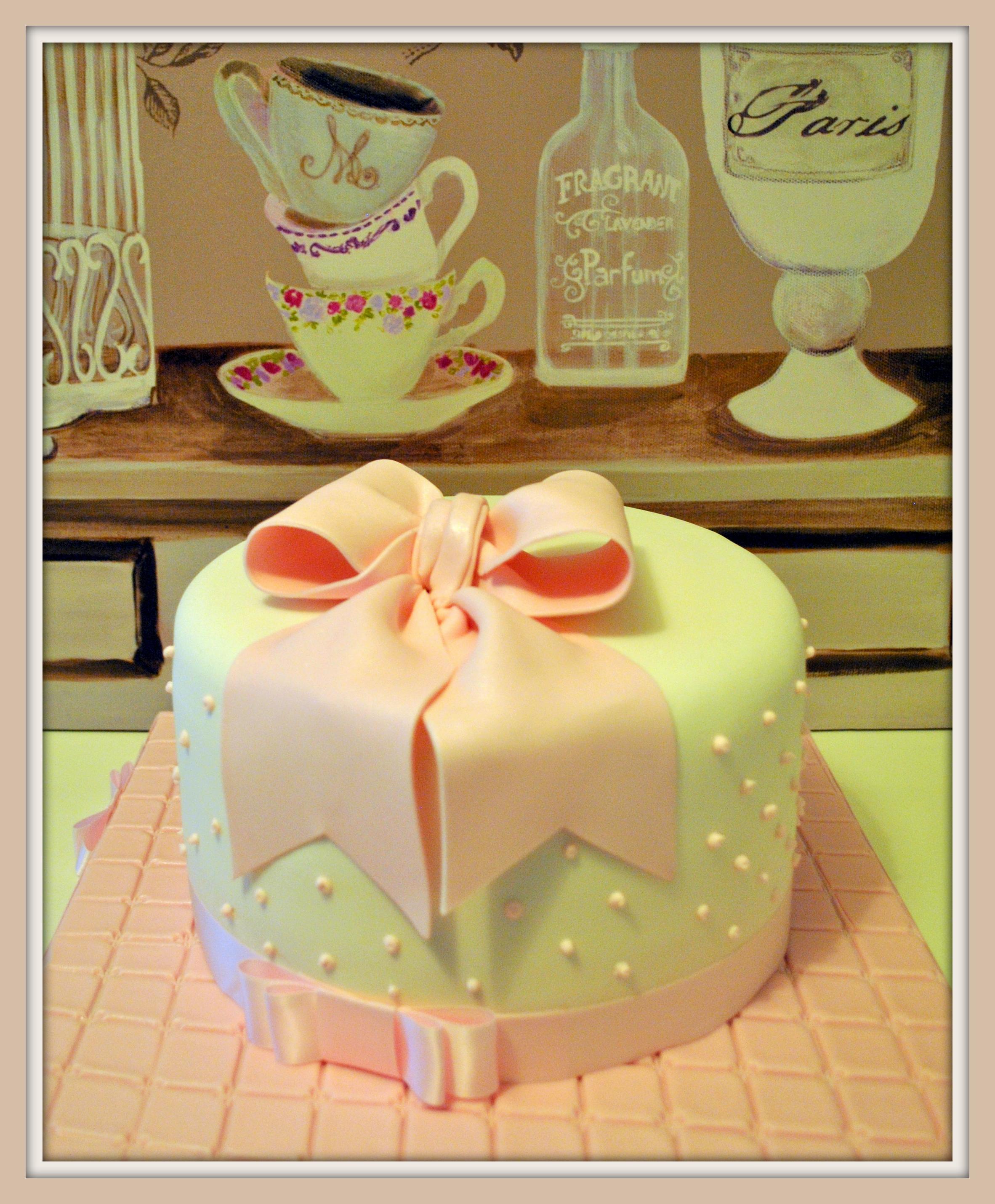 Gâteau joli noeud