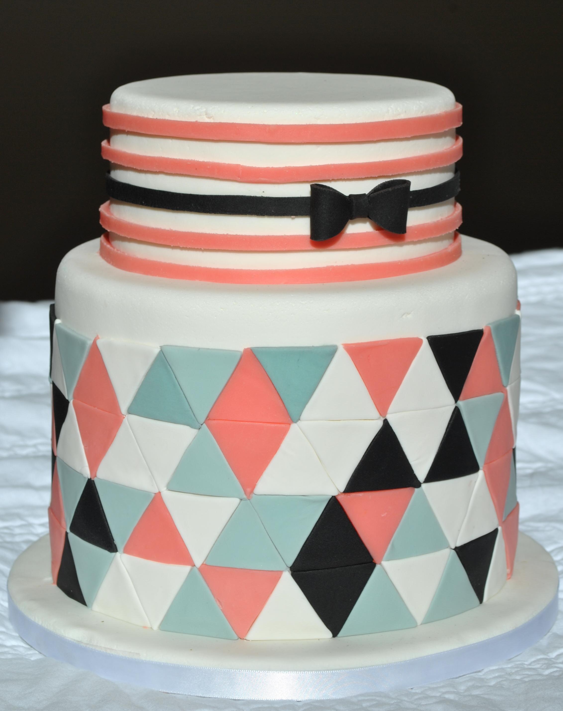 Gâteau geometric style