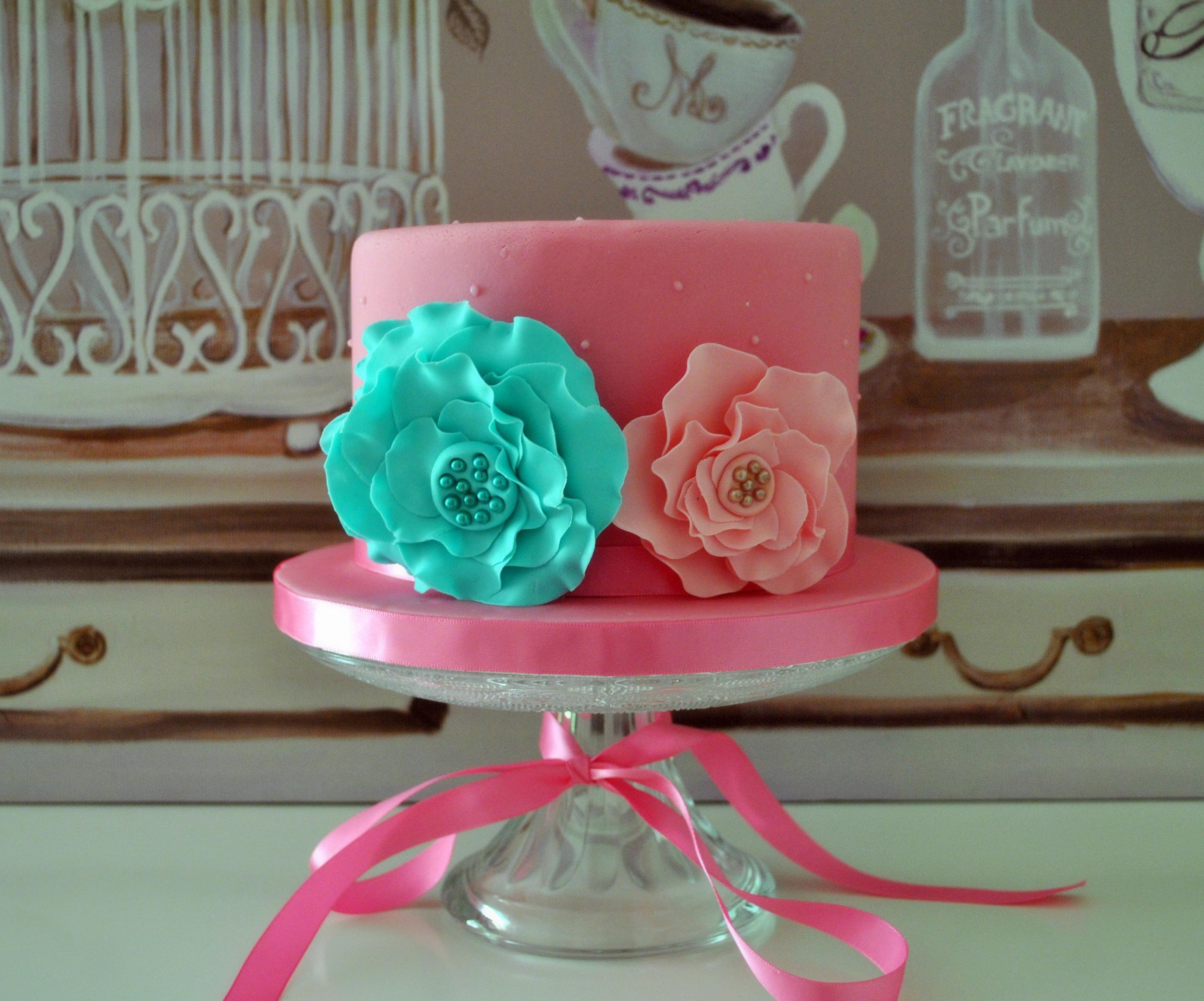 Gâteau bohème pastel