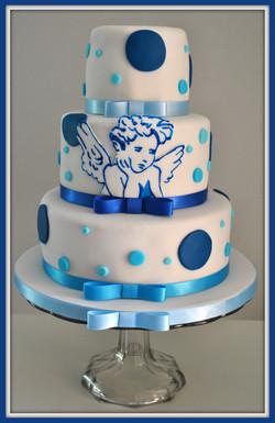 Gâteau ange bleu