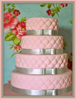 Gâteau élégance effet matelassé