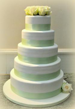 Gâteau élégance vert menthe