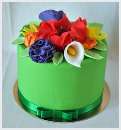 Gâteau fleurs de printemps