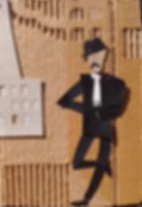 El compadrito, dibujo con tijera de Mari