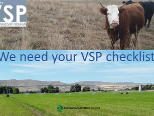 VSP 5-Year Report Due. Share Your Stewardship Today