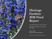2020 Heritage Garden Final Report