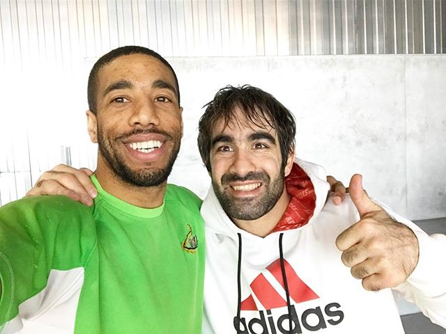 Amazing training and Great friend.  _aghayev_rafael 🙇🏿🇦🇿&🇺🇸🥋🙏🏿🥇🏆 .