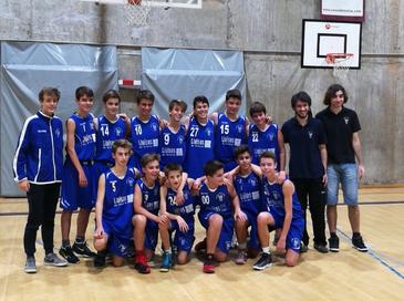 Foto d'equip de l'infantil blau masculí