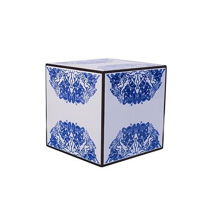 """Cubo de azulejos (6 azulejos """"dissonante""""), 2018 - Fernando de La Rocque"""