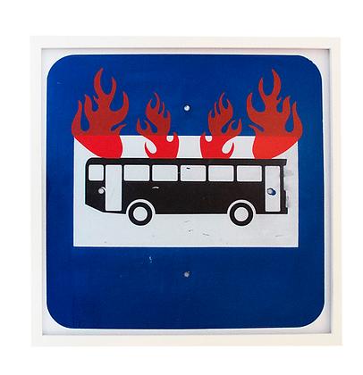 O ônibus incendiado, 2019 - Guga Ferraz
