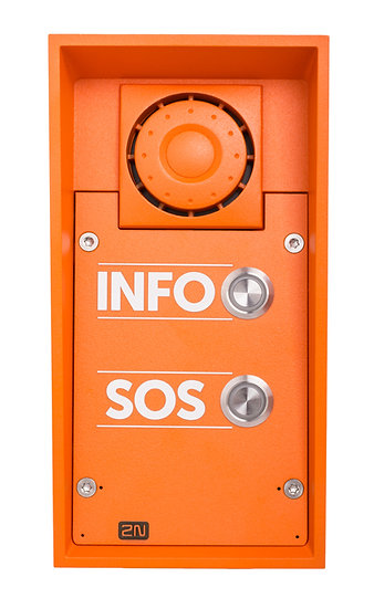 2N® Helios IP Safety - 2 buttons & 10W speaker, INFO/SOS labels
