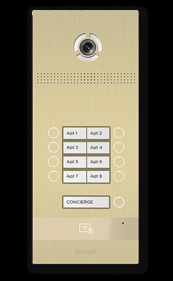 BAS IP Multi-button entrance panel BI-08FB GOLD / BI-08FB SILVER / BI-08FB BLACK