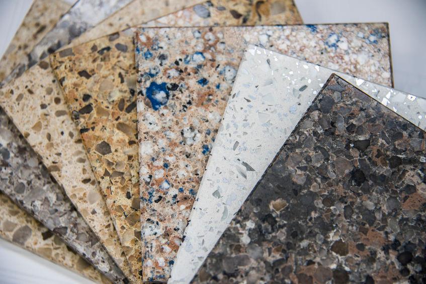 granite countertops vs quartz countertops samples