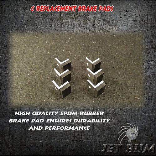 6 Replacement Brake Pads