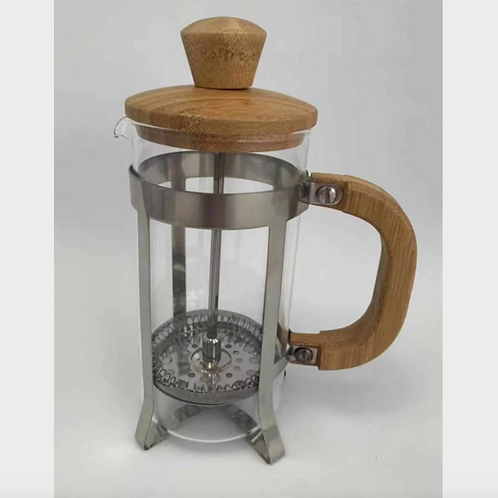 Sustainable Glass & Bamboo Press Coffee Maker