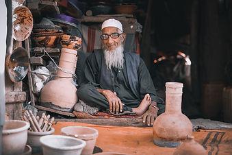 Afghan Man Sitting