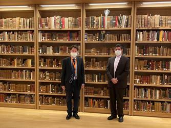 Συνάντηση με τον Γενικό Διευθυντή της Εθνικής Βιβλιοθήκης της Ελλάδας