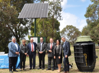 South East Water's system at Trumans Road Reserve installed by us, including our Tardis Battery.