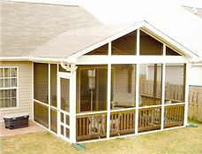 Screen Porch, Screen Tight System, Exterior Addition, Porch, A Frame Porch Roof, Patio Enclosure, Handrail, Screen Door, Vinyl, Screen Porch