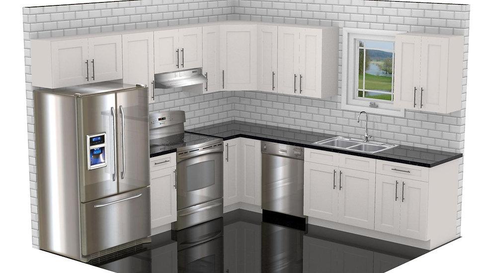 10 x 10 Kitchen, Promotion, Kitchen Remodel, Cabinets, Countertops, Backsplash, Granite, Tile, Installation, Renovation