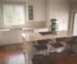 Kitchen, White Shaker, Custom, Cabinets, Quartzite, Countertops, Subway Tile, Backsplash, Remodel, Appliances, Handscraped, Hardwood Floors, Renovation