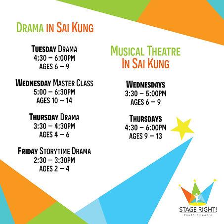 Schedule in Sai Kung