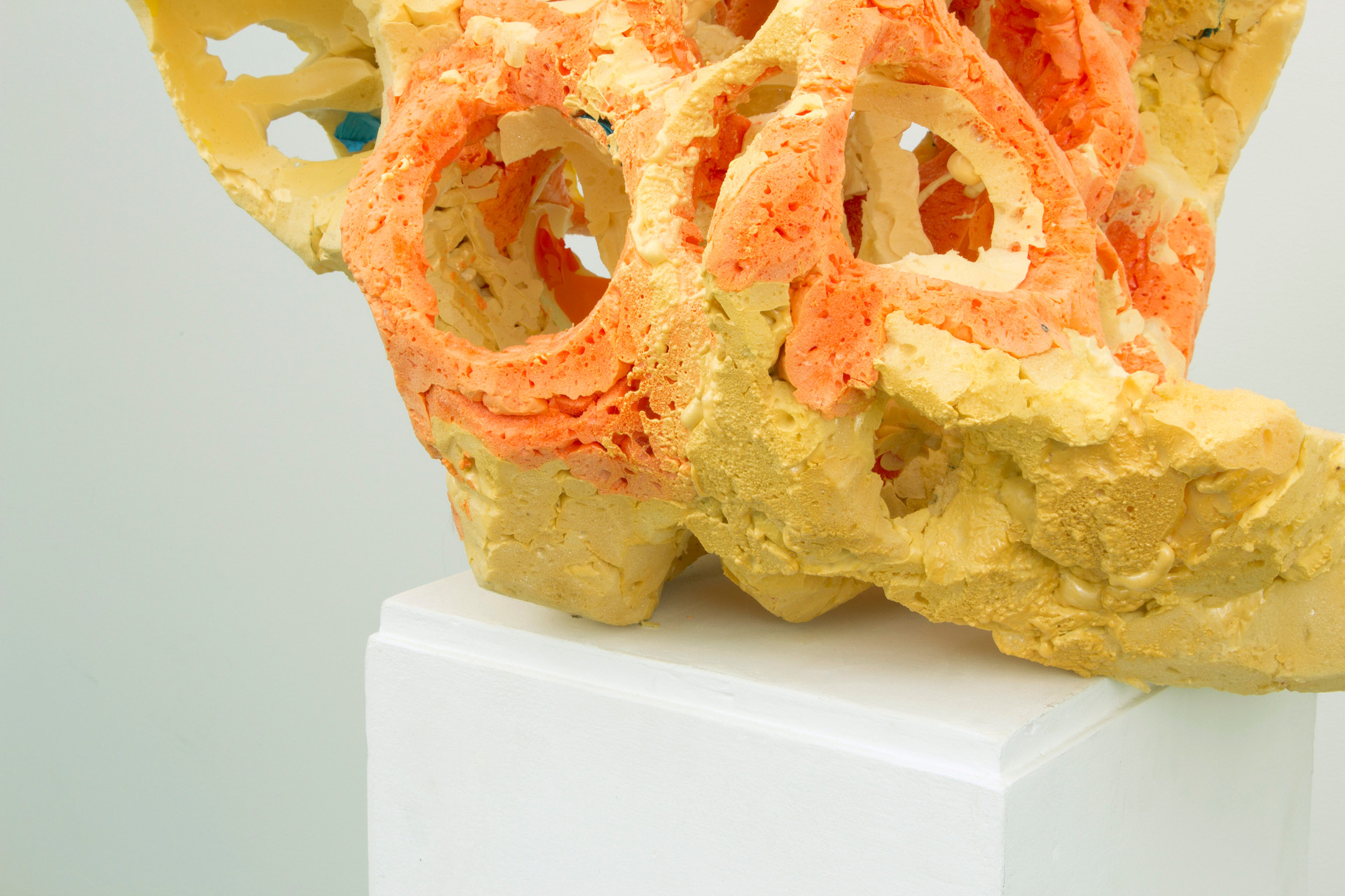 FRNKS Other Lung (detail), studio debirs (Insulations foam, latex, plinth), dimensions vary, 2008-2014 (ongoing).