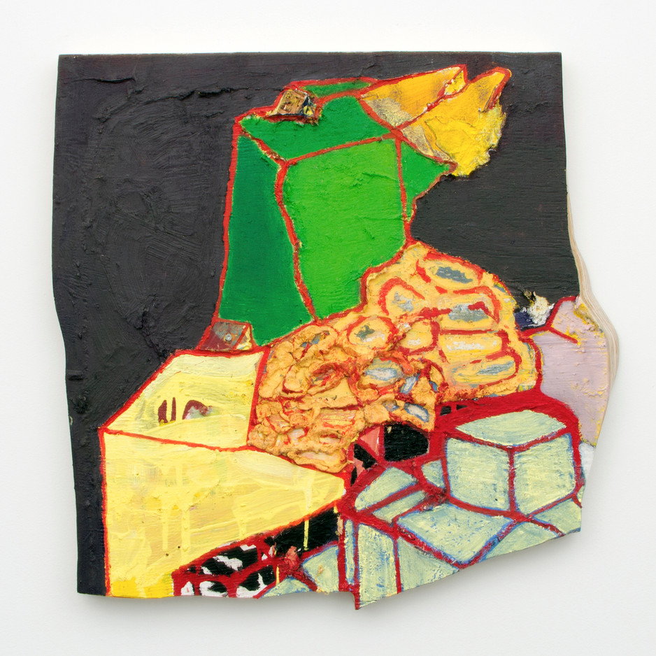 "Mt. Horn, Oil on board, 29 x 25 x 4"", 2014."