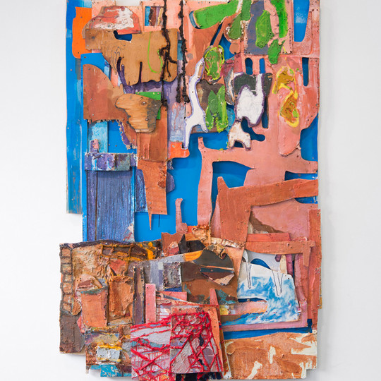 """The Fifth and Sixth Leg, Oil and insulation foam on board, 86 x 60 x 4"""", 2016."""