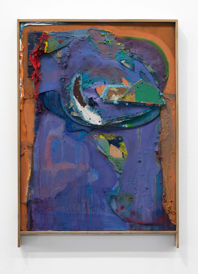 """Murky, Oil on canvas over board, artist's frame, 18 x 24"""", 2016."""