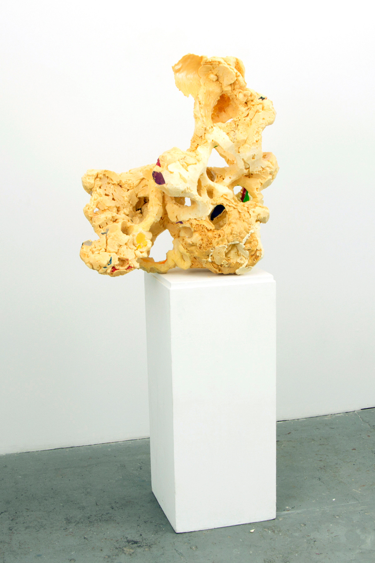FRNKS Lung, studio debirs (Insulations foam and latex), dimensions vary, 2008-2014 (ongoing).