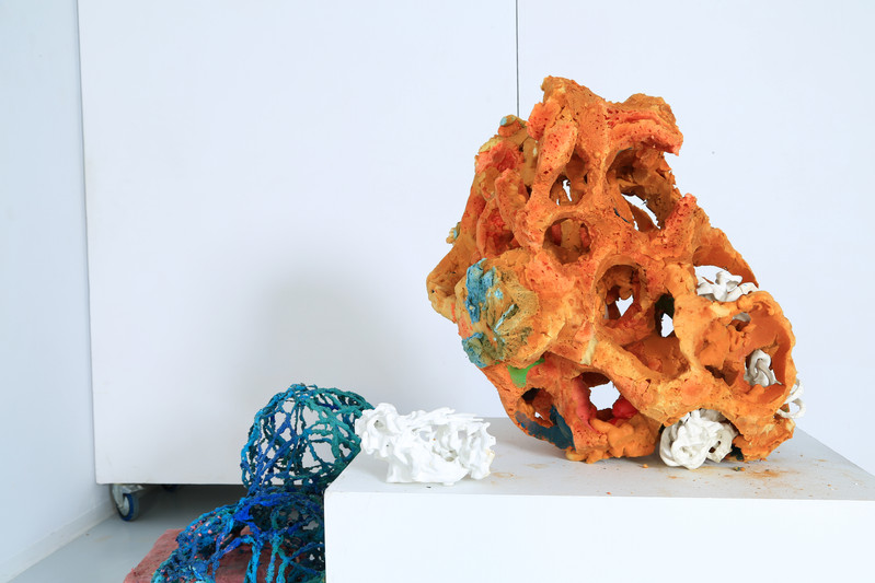 FRNKS Other Lung with WBCs and Spleen, studio debris (insulation foam, polystyrene, latex), dimensions  vary, 2008-2018 (ongoing).