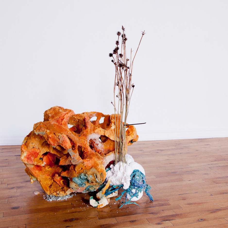 FRNKS Other Lung, studio debris (insulation foam, polystyrene, latex, salt, organic matter, wax, wire, marble dust, oil paint, found objects), dimersions vary, 2008-2018