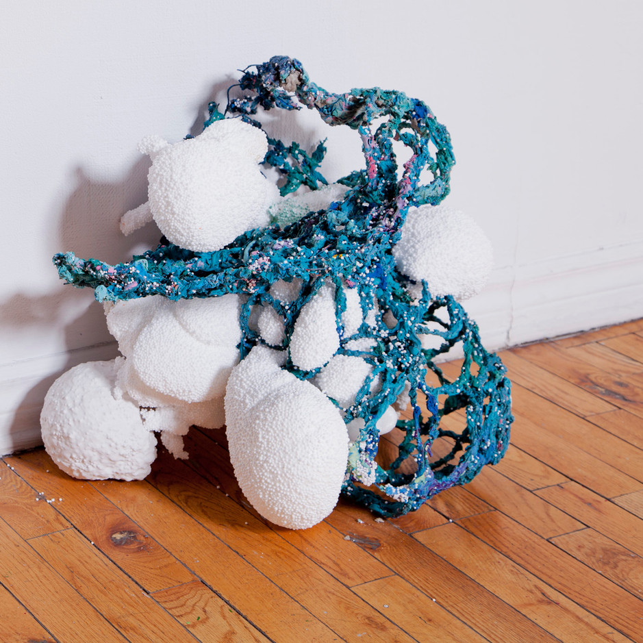 FRNKS Uvula, studio debris (insulation foam, polystyrene, wax, wire, marble dust, oil paint), dimersions vary, 2008-2018 (ongoing).