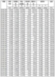 CPT データ表