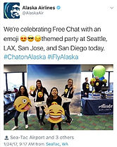 Celebrating the launch of @alaskaair fre