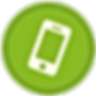 White phone icon with green circle background