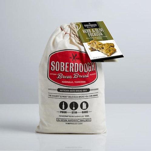 Soberdough Bread- Herb and Olive Focaccia