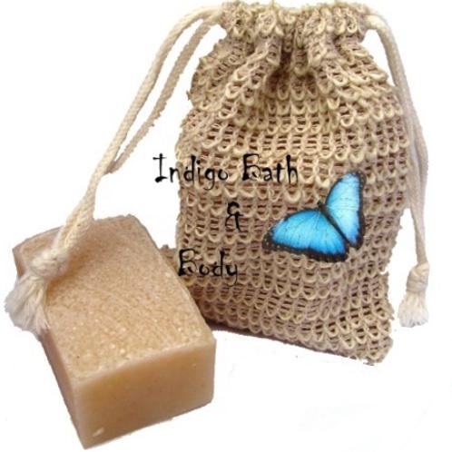Indigo Soap Exfoliating Mitt