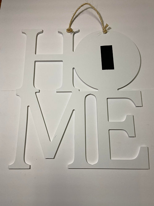 Home Sign-white