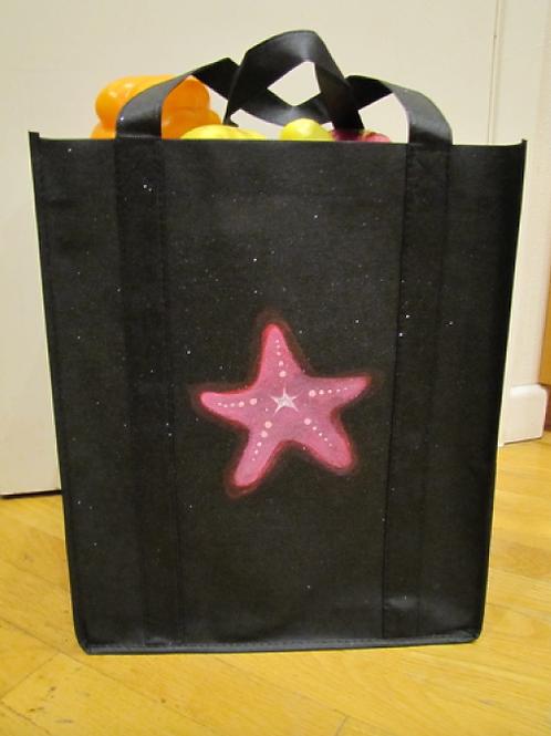 Hand Painted Starfish Reusable Bag