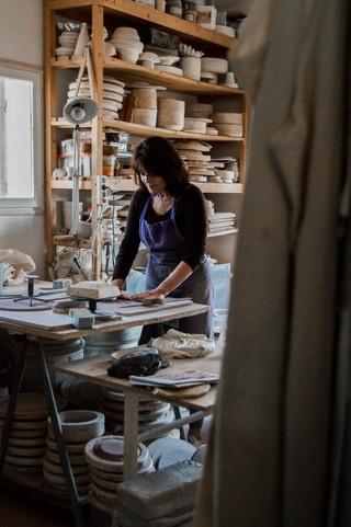 Dans l'atelier de Pascale Mestre
