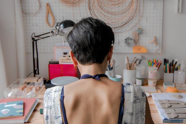 Dans l'atelier de Emile et Marie studio