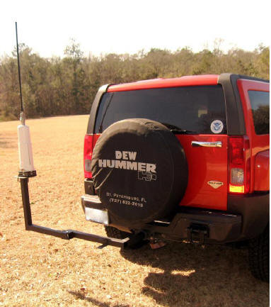 Whip antenna mount for Hummer or truck